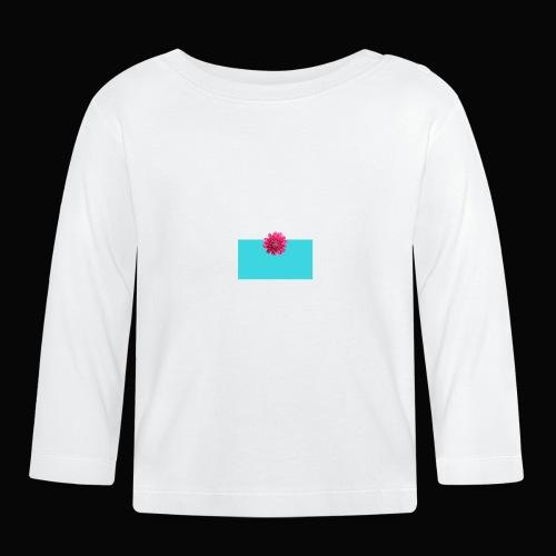 flower - Langarmet baby-T-skjorte