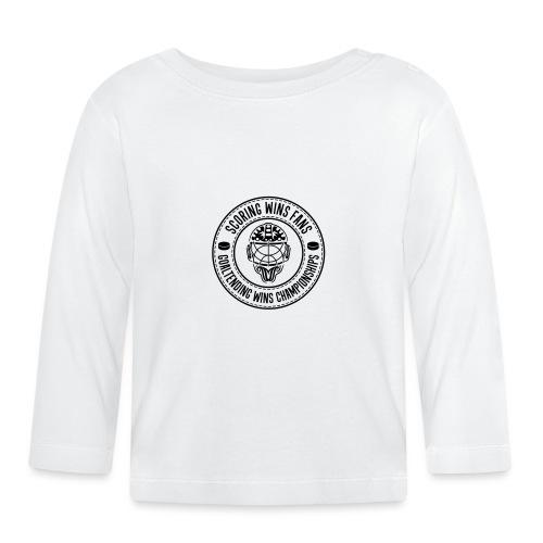 Scoring Wins Fans Goaltending Wins Championships - Baby Long Sleeve T-Shirt