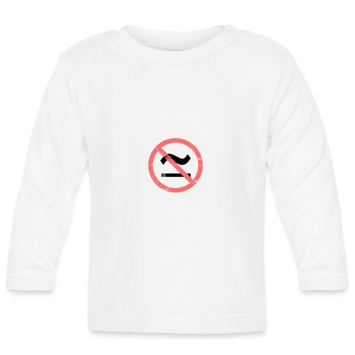 The Commercial NO SMOKING (Salmon) - Baby Long Sleeve T-Shirt