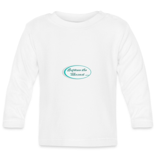 Logo capture the moment photography slogan - Baby Long Sleeve T-Shirt
