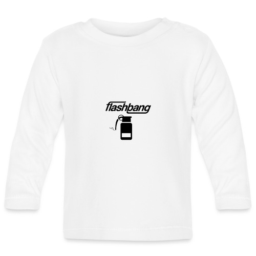 FlashBang Logga - Utan Donation - Långärmad T-shirt baby