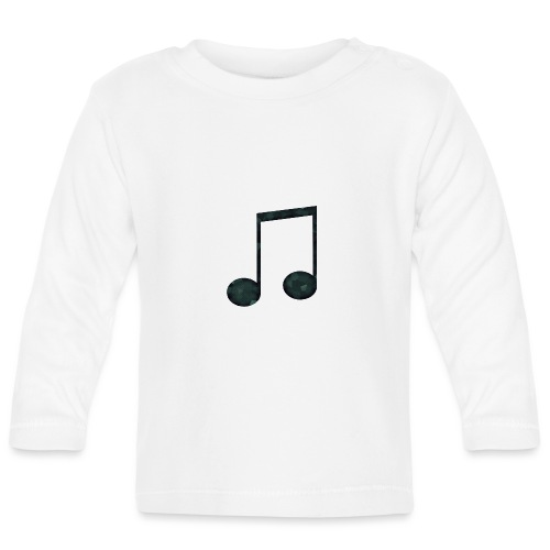Low Poly Geometric Music Note - Baby Long Sleeve T-Shirt