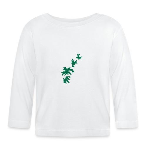 Green Leaves - Baby Langarmshirt