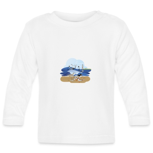 See... birds on the shore - Baby Long Sleeve T-Shirt