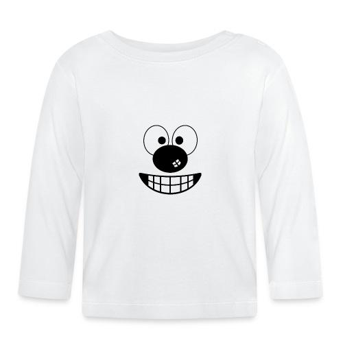 Funny cartoon face - Baby Long Sleeve T-Shirt