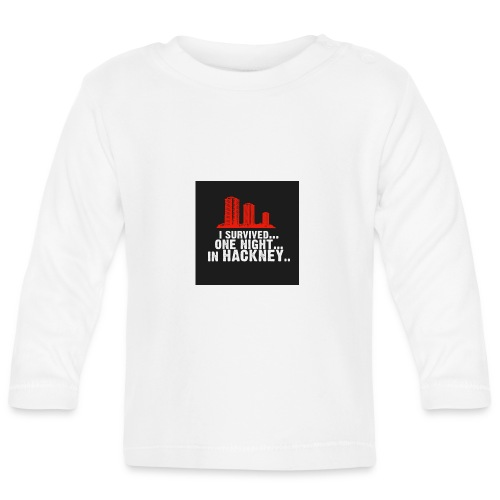 i survived one night in hackney badge - Baby Long Sleeve T-Shirt