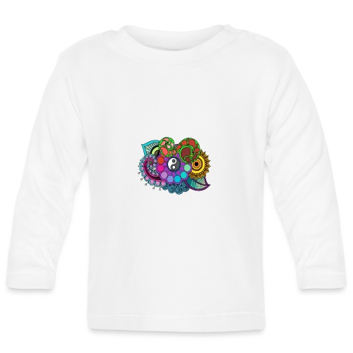 Coloured Nature Mandala - Baby Long Sleeve T-Shirt