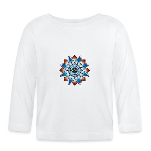 Psychedelisches Mandala mit Auge - Baby Langarmshirt