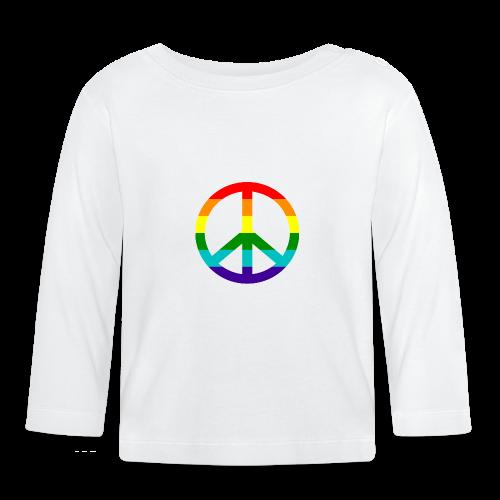 Gay pride peace symbool in regenboog kleuren - T-shirt