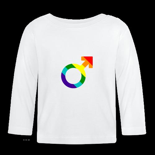 Gay pride regenboog mannen symbool - T-shirt