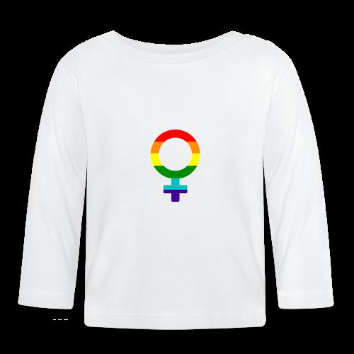 Gay pride regenboog vrouwen symbool - T-shirt