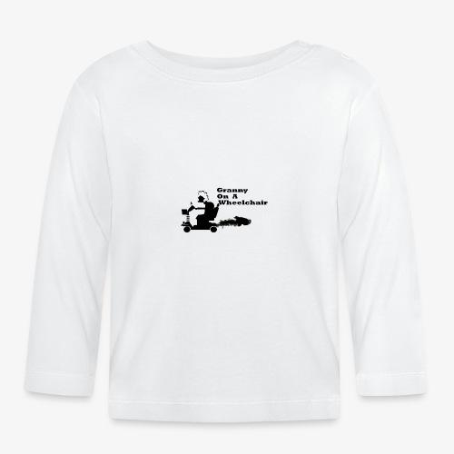 granny on a wheelchair - Baby Long Sleeve T-Shirt