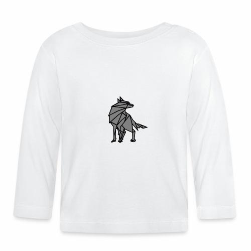 loup geometrique - T-shirt manches longues Bébé