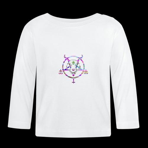 glitch cat - T-shirt manches longues Bébé