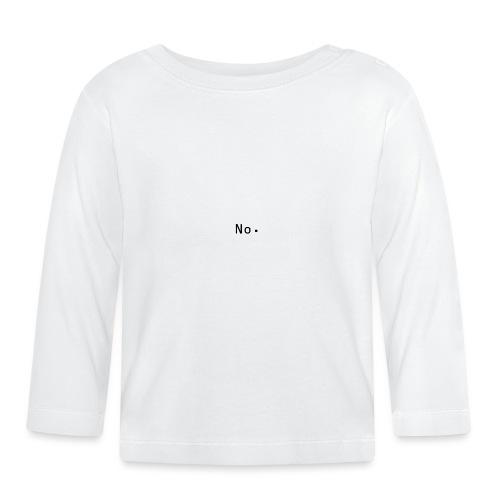 No - Langarmet baby-T-skjorte
