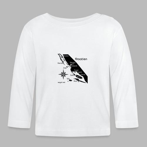 Crewshirt Urlaub Motiv Kroatien - Baby Langarmshirt