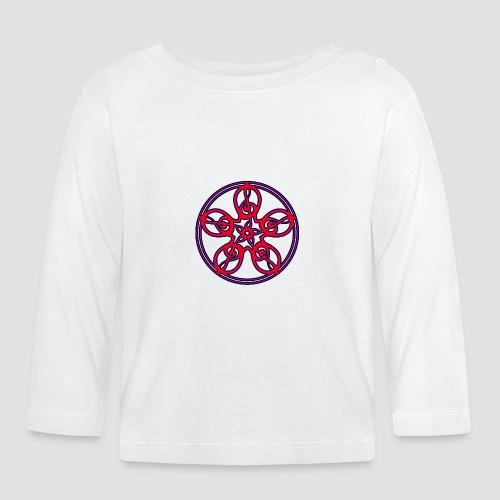 Treble Clef Mandala (red/violet/black) - Baby Long Sleeve T-Shirt