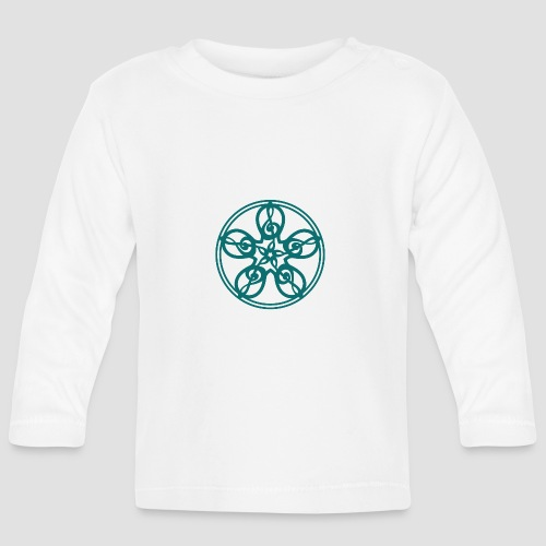 Treble Clef Mandala (teal) - Baby Long Sleeve T-Shirt