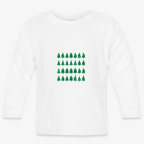 Christmas tree with smileys - Baby Long Sleeve T-Shirt