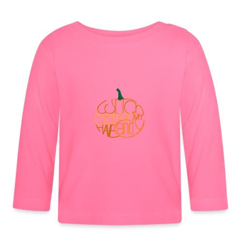 Græskar med citat - Langærmet babyshirt