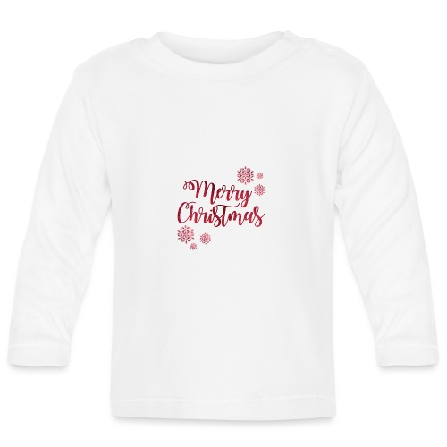 Merry christmas Noël New shape fane design vintage - T-shirt manches longues Bébé