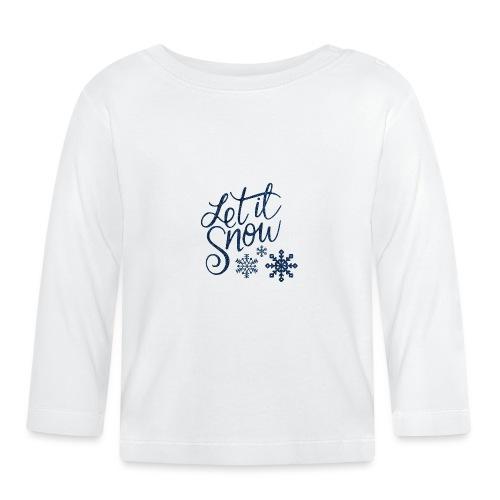 Let il snow Noël New shape fane design vintage - T-shirt manches longues Bébé