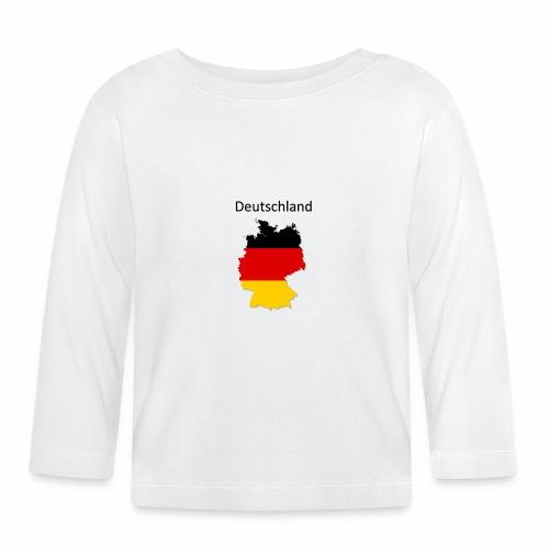 Deutschland Karte - Baby Langarmshirt