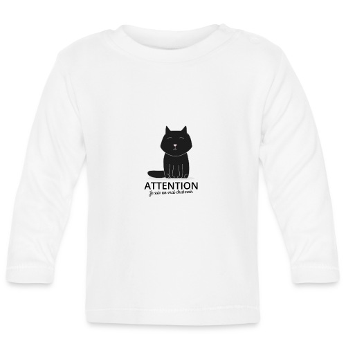 Chat noir - T-shirt manches longues Bébé