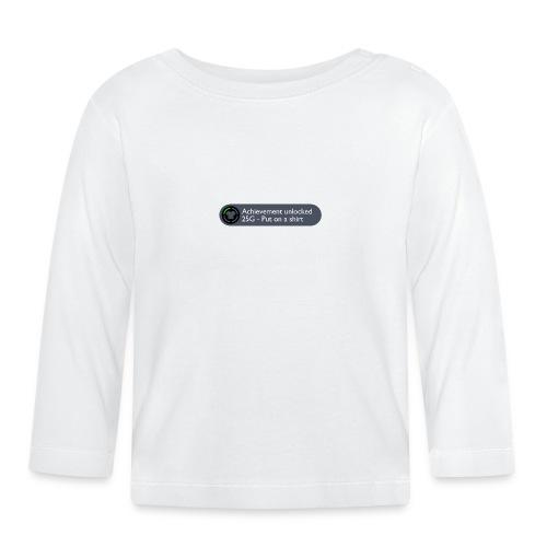 Achievement Unlocked: Put on a Shirt Design - Baby Long Sleeve T-Shirt