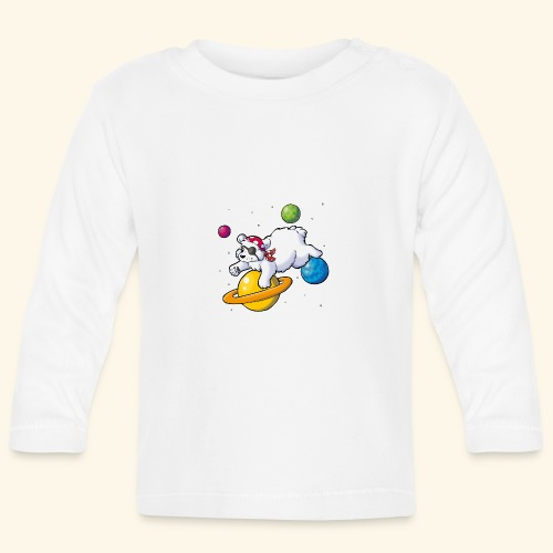 Piraten Eisbär im Weltall - Baby Langarmshirt