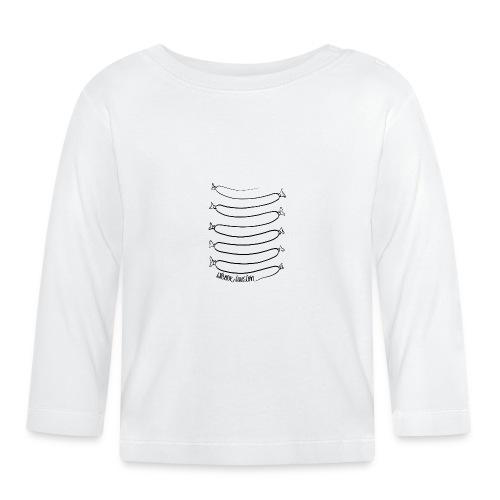 Wiener Illusion (schwarz auf weiß) - Baby Langarmshirt