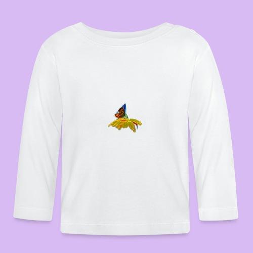 Farfalla su corolla - Maglietta a manica lunga per bambini