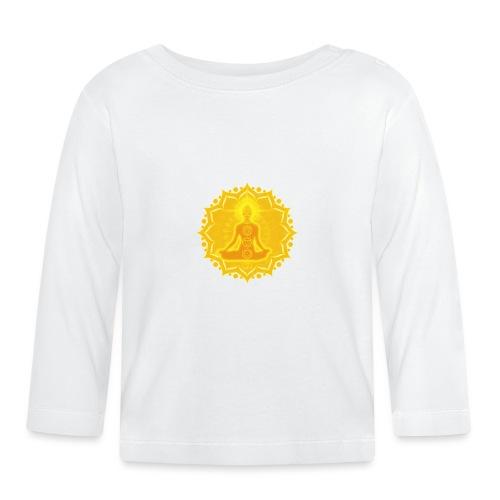 Yoga Lotus Meditation Chakren III - Baby Langarmshirt