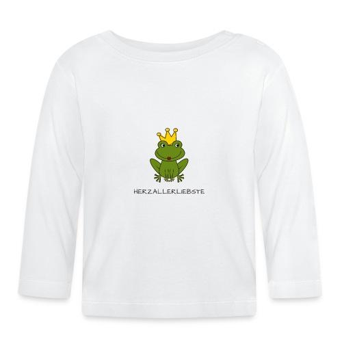 Froni mit Schriftzug Herzallerliebste (schwarz) - Baby Langarmshirt