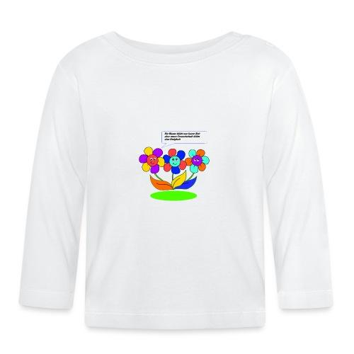 Blumen Freundschaft - Baby Langarmshirt