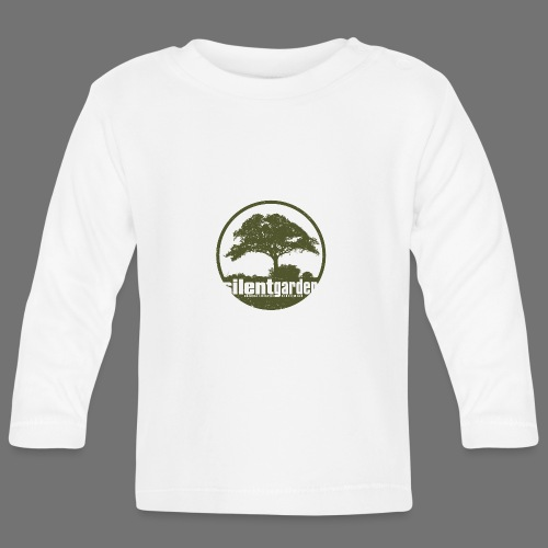 hiljainen puutarha (vihreä oldstyle) - Vauvan pitkähihainen paita