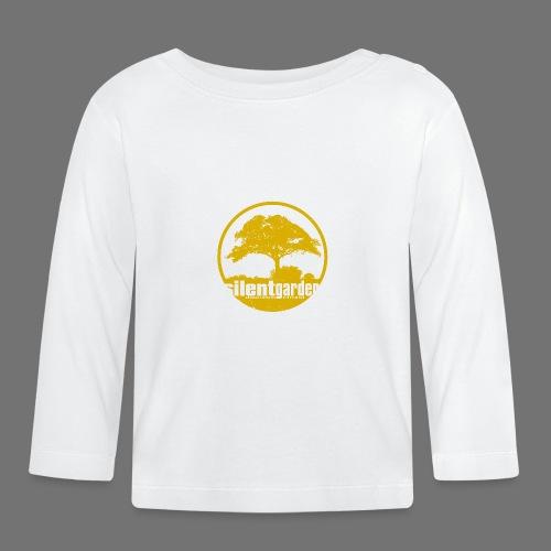 hiljainen puutarha (keltainen oldstyle) - Vauvan pitkähihainen paita
