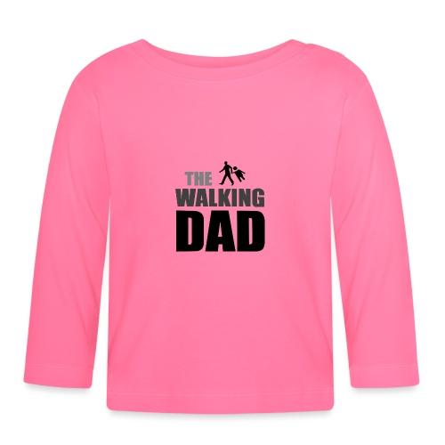 the walking dad auf dem Weg in die lustige Bar - Baby Langarmshirt