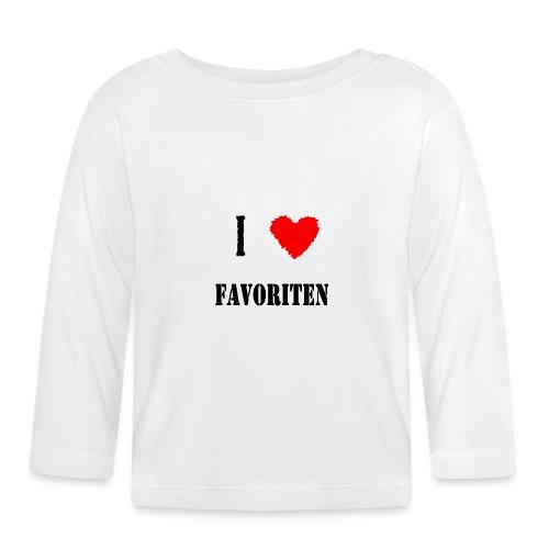 ich liebe favoriten - Baby Langarmshirt