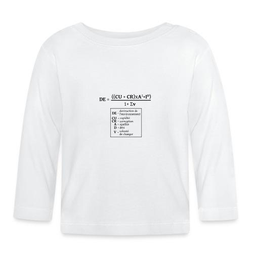 Formule de la destruction de l'environnement - T-shirt manches longues Bébé