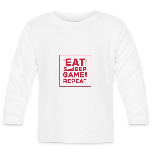 Eat, Sleep, Game, Repeat. - Baby Long Sleeve T-Shirt