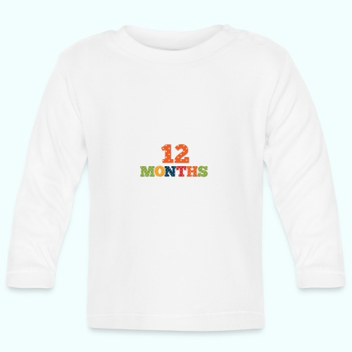 Twelve 12 months old baby print photography prop - Baby Long Sleeve T-Shirt