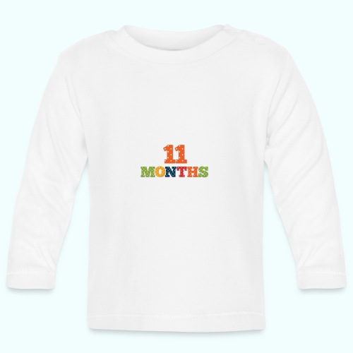 Eleven 11 months old baby age print photo prop - Baby Long Sleeve T-Shirt