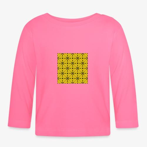 Design motifs jaune et noir - T-shirt manches longues Bébé