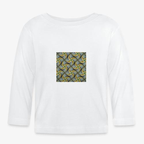 Design motif jaune vert gris - T-shirt manches longues Bébé