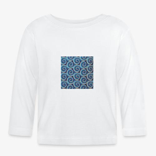 Spirales au motif bleu - T-shirt manches longues Bébé