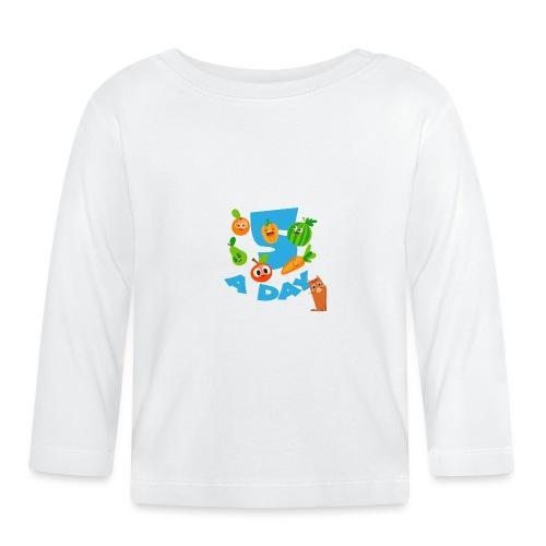 Duna five a day - Langarmet baby-T-skjorte