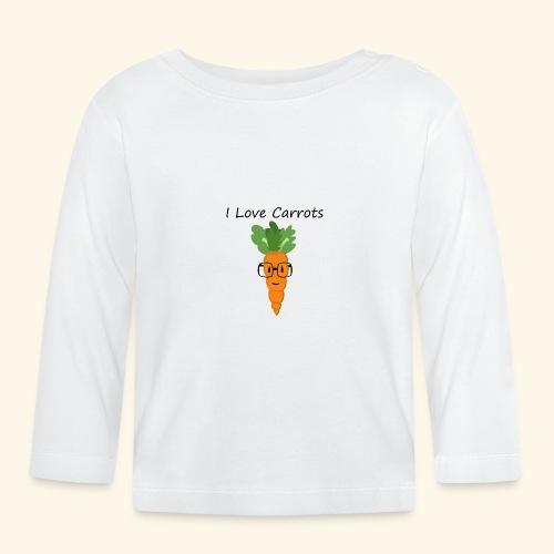 Love Carrots - Camiseta manga larga bebé