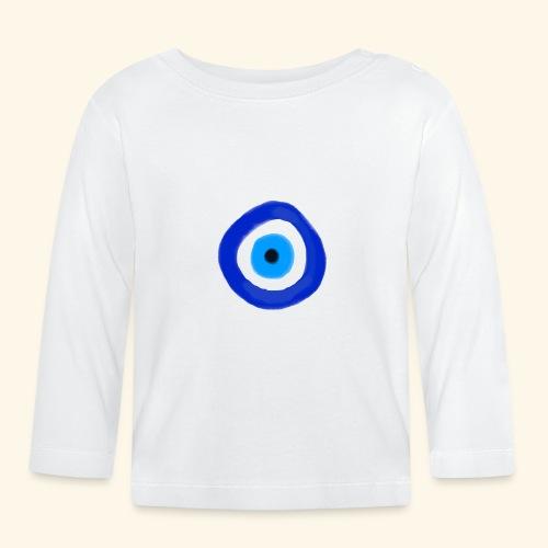 Blue evil eye Water Colour - Långärmad T-shirt baby