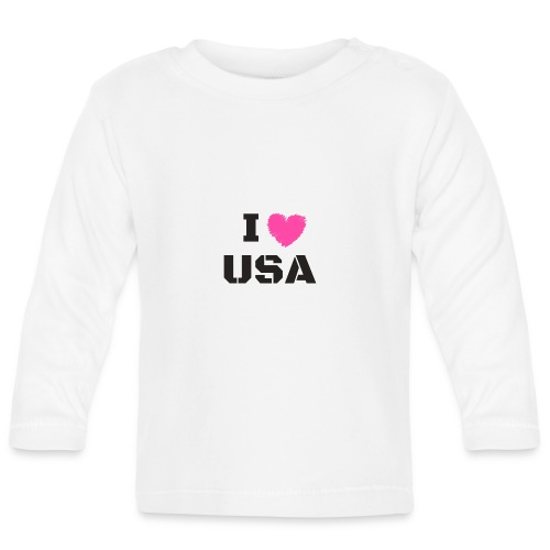 I LOVE USA, I HEART USA - Koszulka niemowlęca z długim rękawem